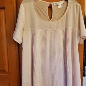 Pink Polly Plains French Connection Blouse Sz L